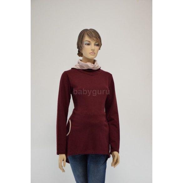 Kismama pulóver bordó