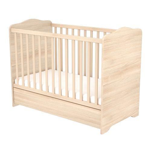 Zárt végű ágyneműtartós gyermekágy ( kiságy ) Borostyán