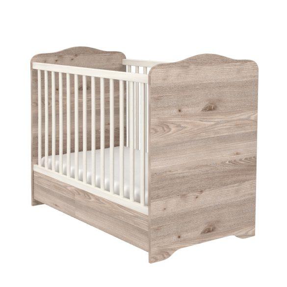 Zárt végű ágyneműtartós gyermekágy ( kiságy ) 60x120 Krém-fűz