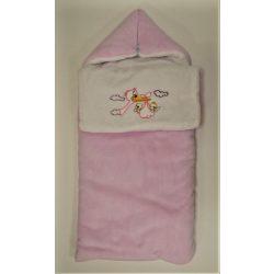 Takaróvá alakítható bundazsák rózsaszín