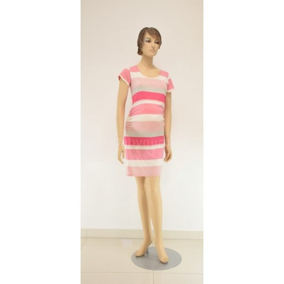 Pamut rövid ujjú ruha rózsaszín