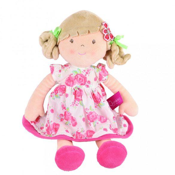 Scarlet – Szőke haj/ rózsaszín virágos ruha Dobozban
