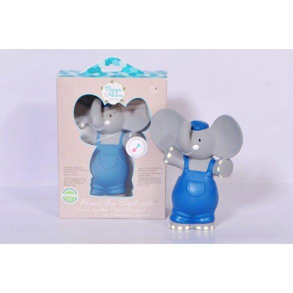 Alvin az Elefánt gumi csörgő játék, természetes gumiból