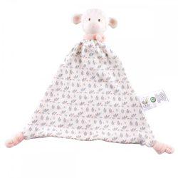Lucas bárány szundikendő, gumi fejjel – rózsaszín, természetes gumiból és pamutból