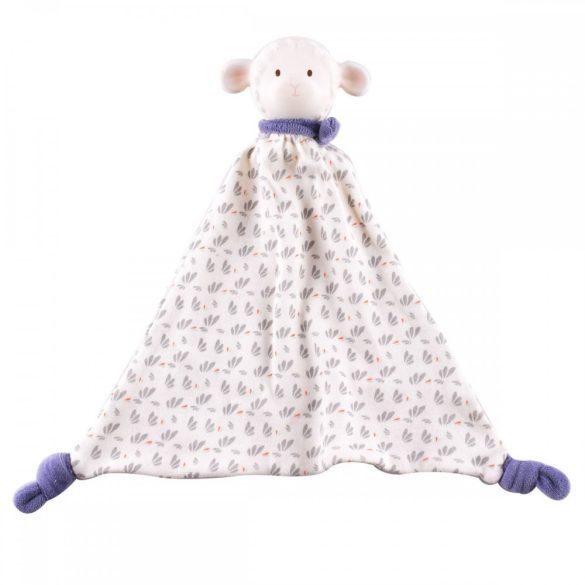 Lucas bárány szundikendő, gumi fejjel – kék, természetes gumiból és pamutból