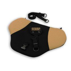 Scamp biztonsági övterelő fekete-beige színben