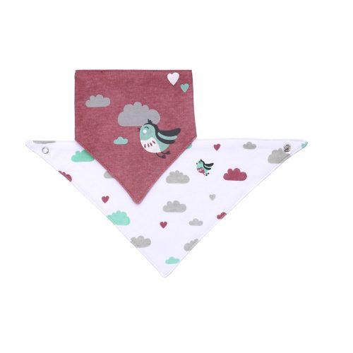 BabyOno előke háromszög 2db-os madárka --879/01