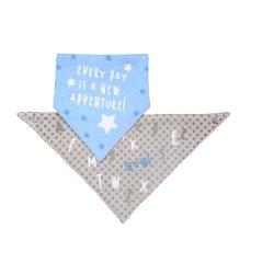 BabyOno előke háromszög 2db-os csillagos --879/04