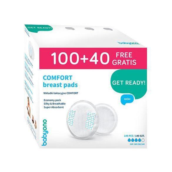 BabyOno Comfort eldobható melltartó betét 100+40db fehér --296/140