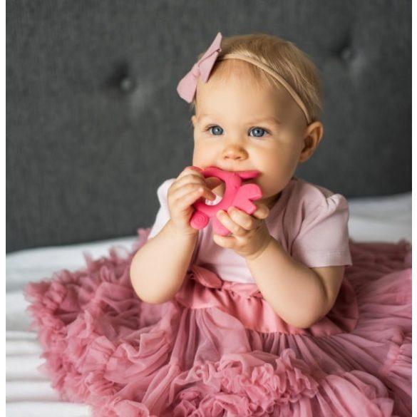 BabyOno Rágóka szilikon Don rák rózsaszín #936