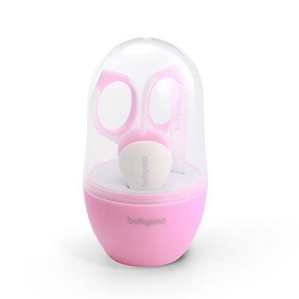 BabyOno manikűr készlet tokban 398/02 rózsaszín