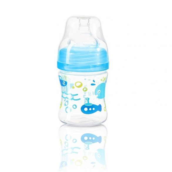 BabyOno cumisüveg műa. szélesnyakú anticolic 120ml 402/03 kék