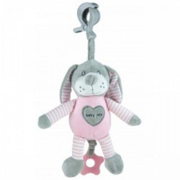 Baby Mix felhúzhatós zenélő kutya  rózsaszín
