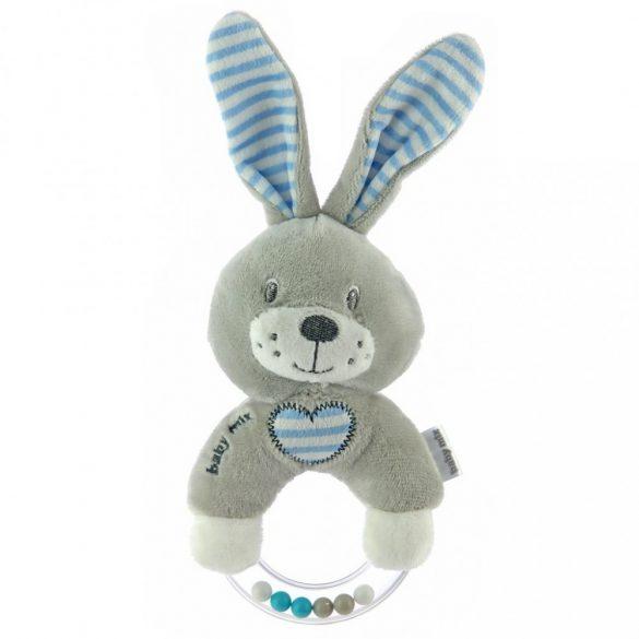 Baby Mix Csörgős plüss játék nyúl kék
