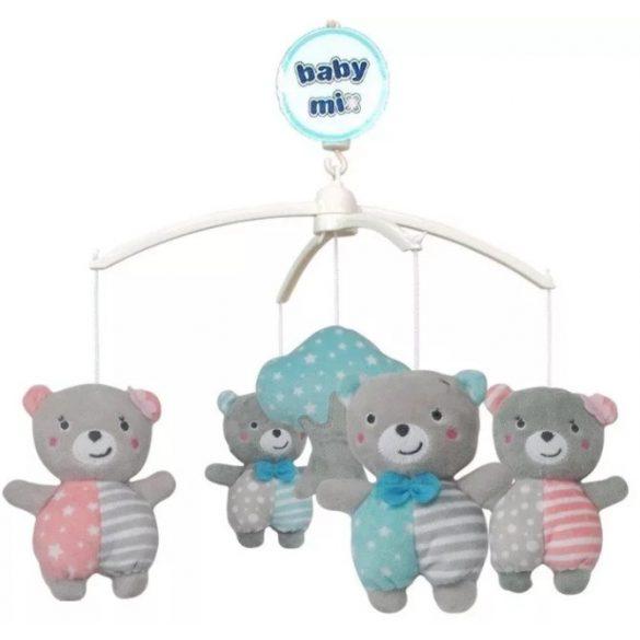 Baby Mix plüss zenélő körforgó-macik
