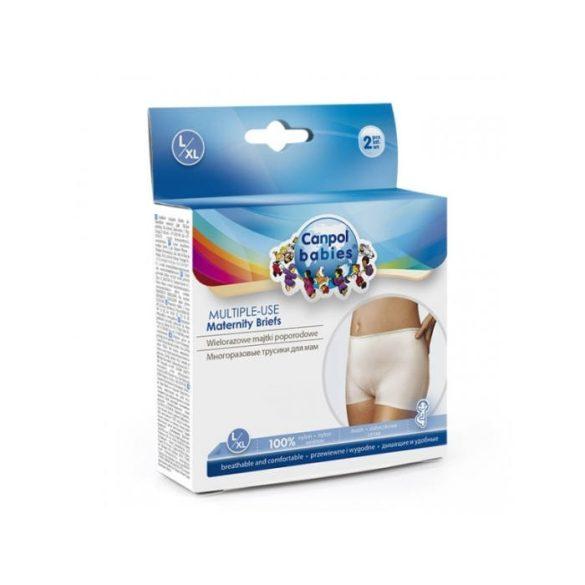 Canpol elasztikus, mosható, szülés utáni kismama alsó L/XL 2db