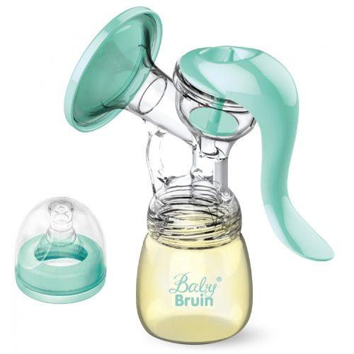 BabyBruin kétfázisú kézi mellszívó PP széles nyakú cumisüveggel