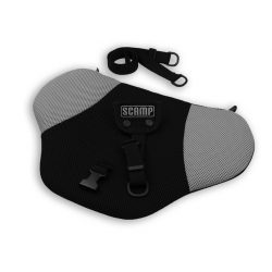 Scamp biztonsági övterelő fekete-szürke színben