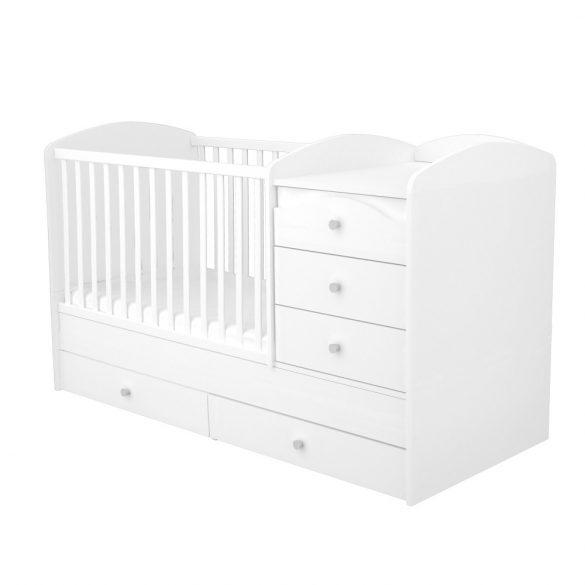 Maxi Kombi 5 fiókos gyermekágy ( Kombiágy ) Fehér