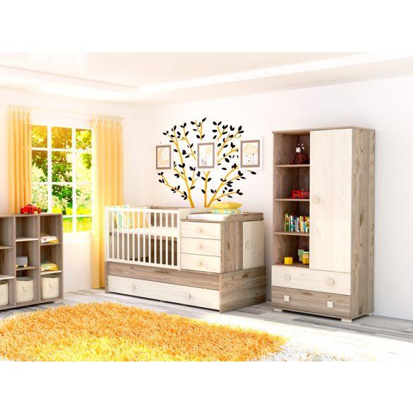 Maxi Kombi 5 fiókos gyermekágy ( Kombiágy ) Krém-fűz