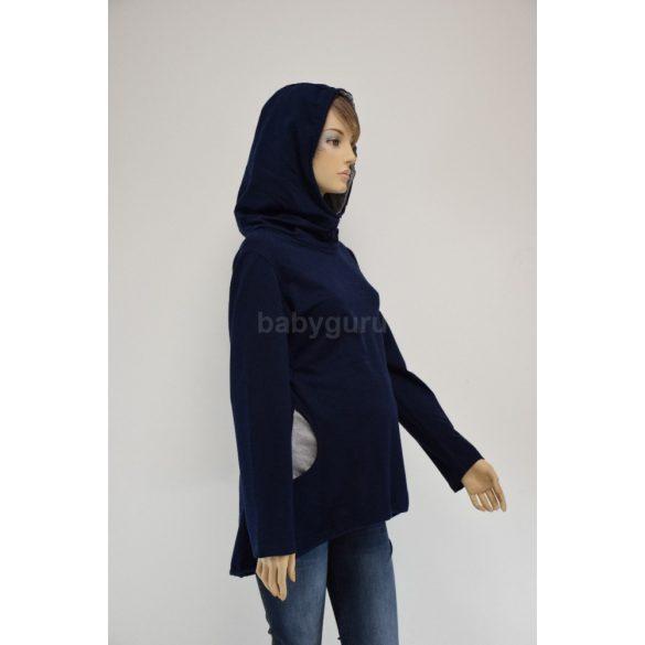 Kismama pulóver kék