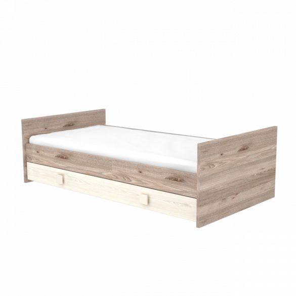 Átalakítható ágyneműtartós gyermekágy ( kiságy ) 70x140 Krém-fűz