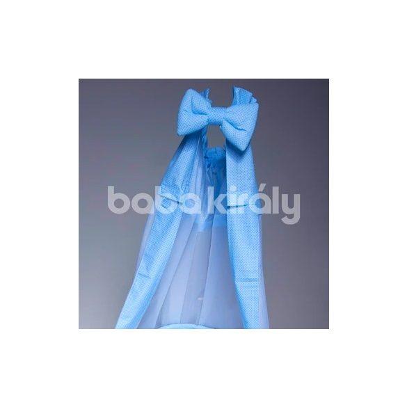Babakirály baldachin-Kék és kék pöttyös