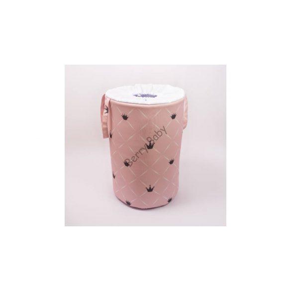 Szennyestartó/ játéktároló Rózsaszín chesterfield