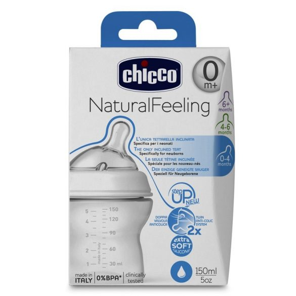 Chicco NaturalFeeling cumisüveg 0hó+ 150ml