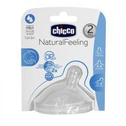 Chicco NaturalFeeling etetőcumi 2 hó+ közepes folyású