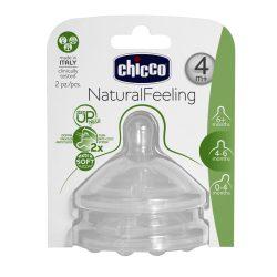 Chicco NaturalFeeling etetőcumi 4hó+ változtatható folyású 2db
