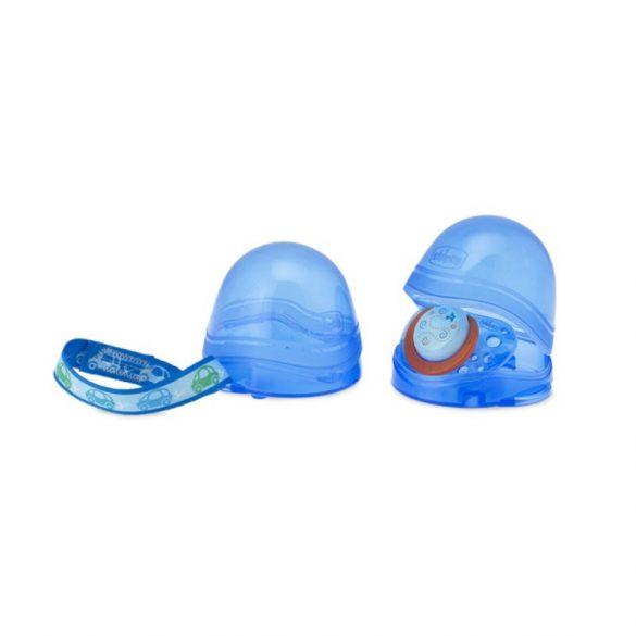 Chicco Sterilizálható kétrekeszes cumitartó doboz kék