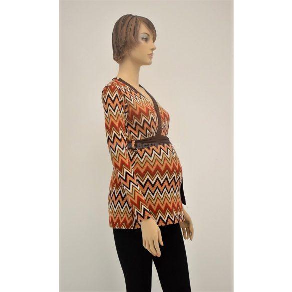 Hosszú ujjú vékony kötött pulóver