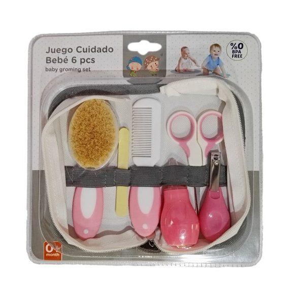 Gamberritos babaápoló készlet 6 db-os, rózsaszín