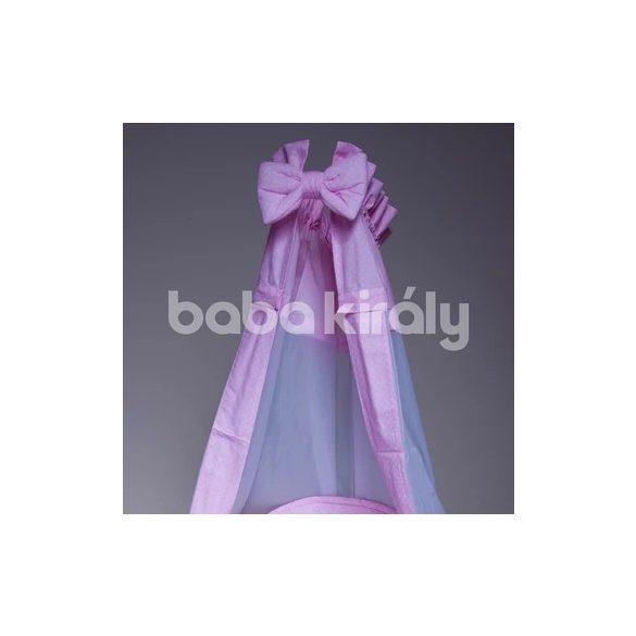 Babakirály baldachin-rózsaszín fehér pöttyös