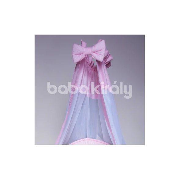 Babakirály baldachin-rózsaszín pink pöttyös