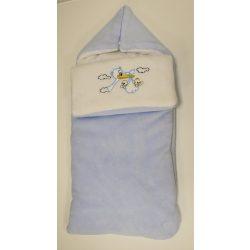 Takaróvá alakítható bundazsák kék