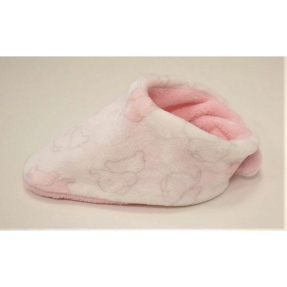 Babasál tépőzáras rózsaszín elefántos