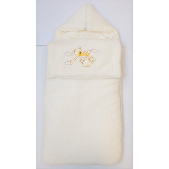 Takaróvá alakítható bundazsák krém
