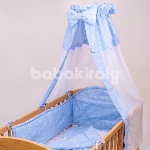 Babakirály baldachin-Kék fehér pöttyös